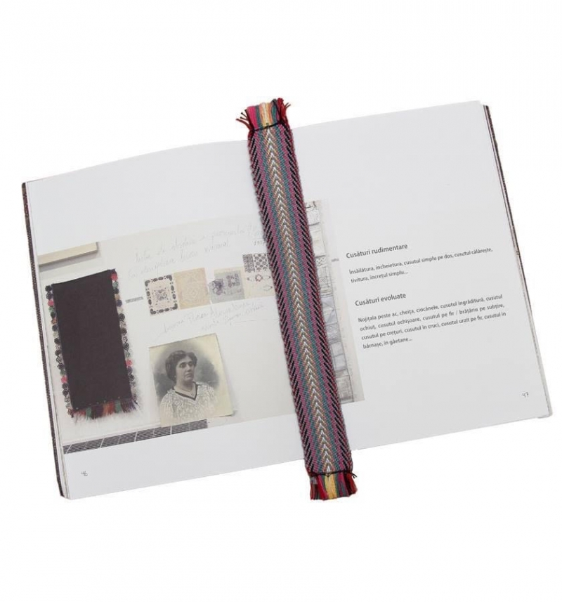 Textile woven traditional bookmark
