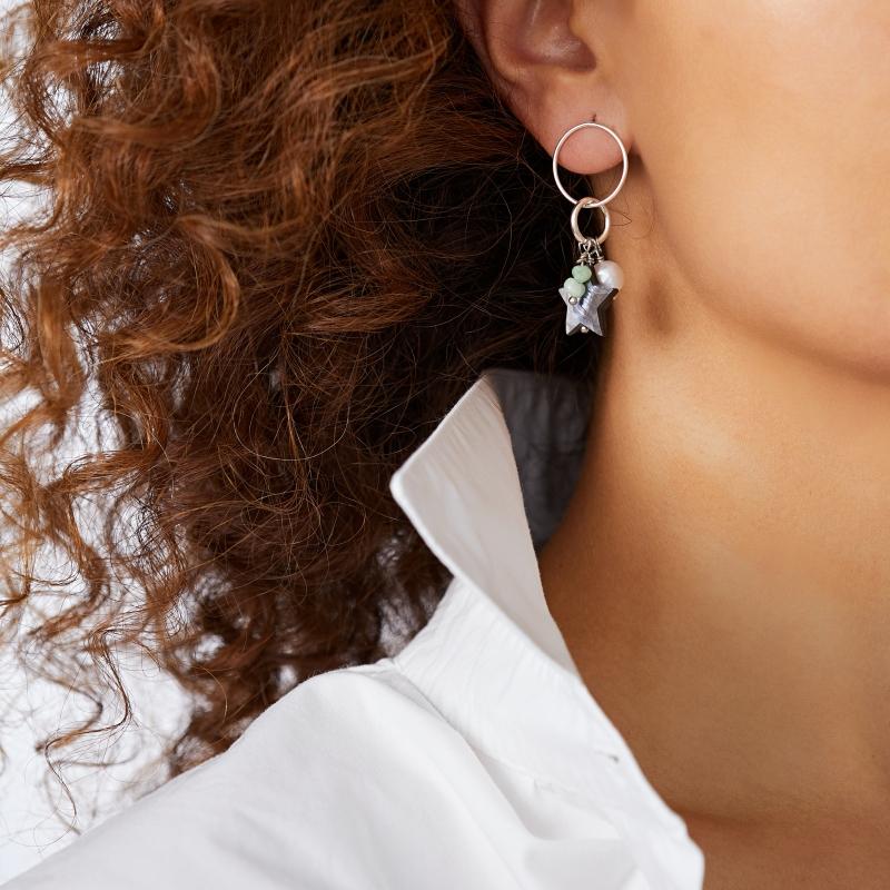 Unbalanced Green Earings