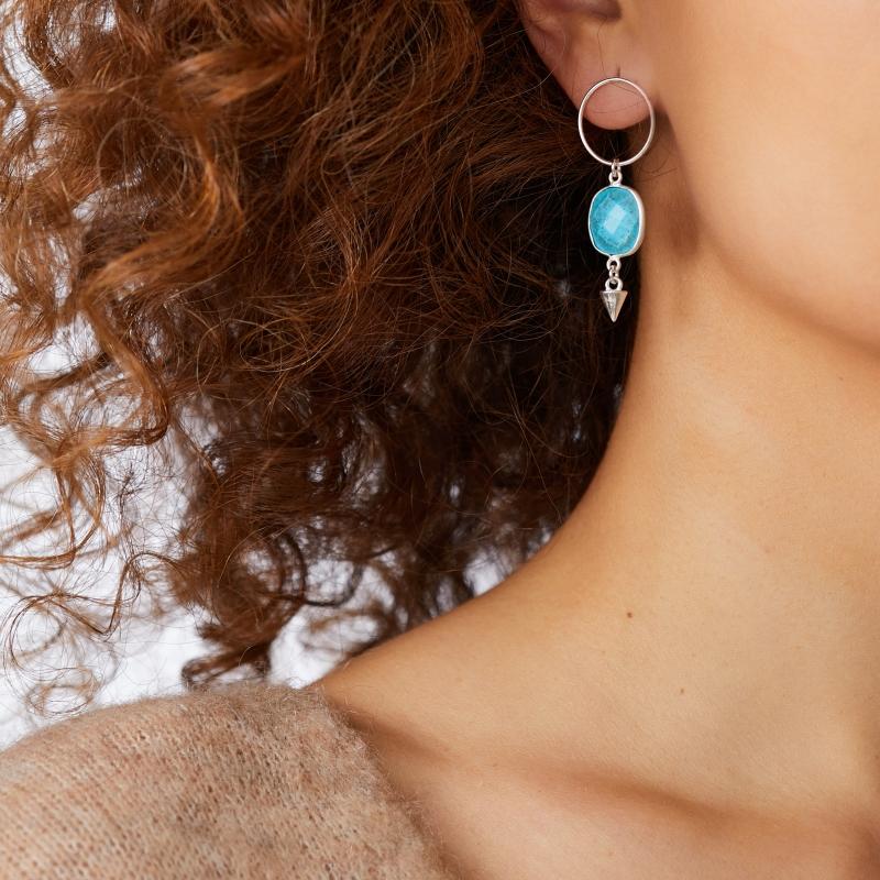Unbalanced Turquoise Earings