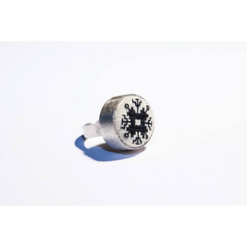 Inel argint motiv traditional Valcea