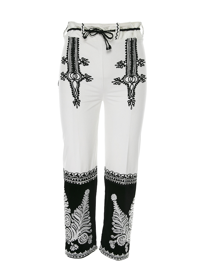 Velvet Pants with Traditional embroidery Gorj