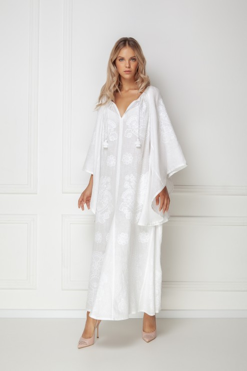 Foberini Victory chic white maxi dress