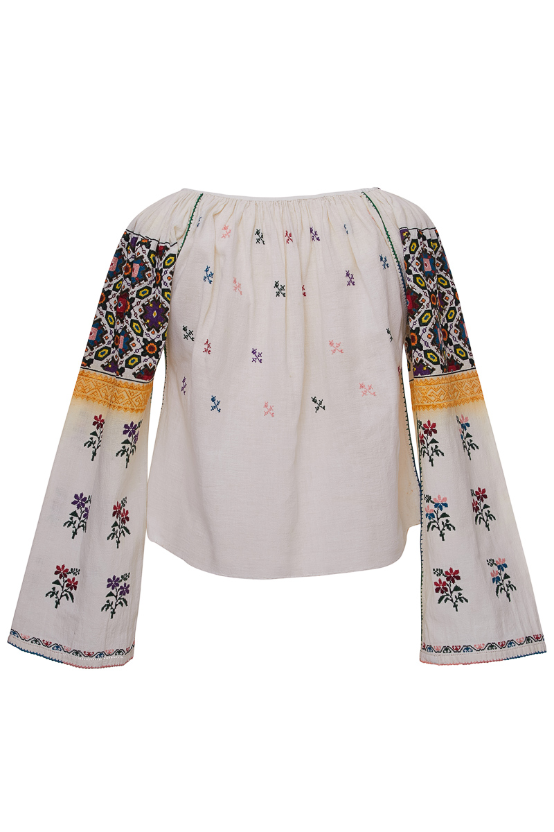 Vintage Floral Embroidered Blouse- SOLD
