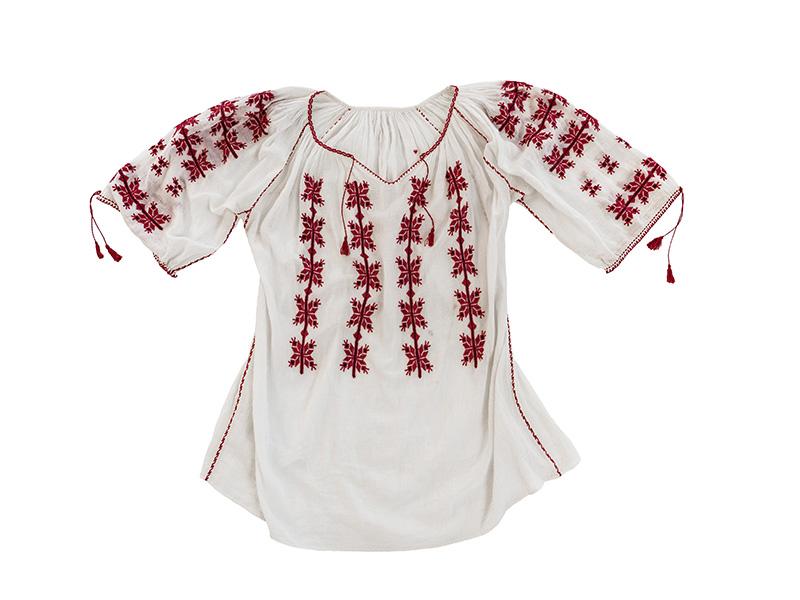 Ie Romaneasca Vintage motiv rosu