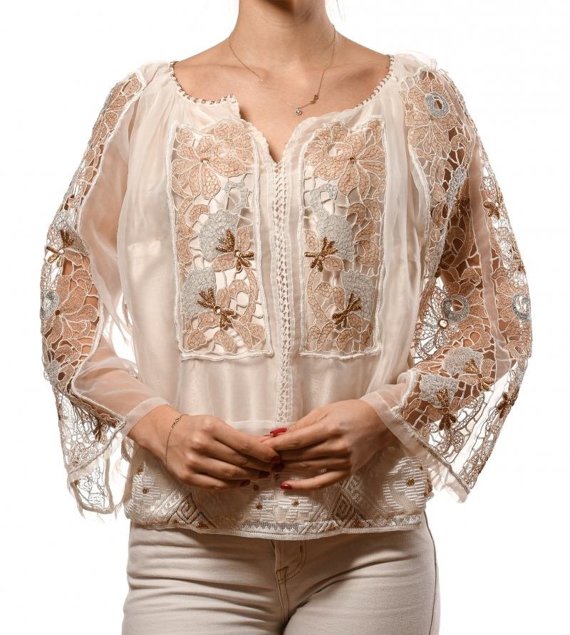 Vintage up cycled Romanian blouse Romanian Glam