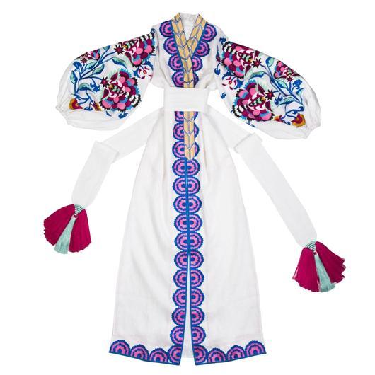 White Boho style Kaftan