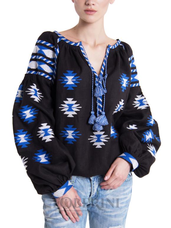 """Women's embroidered shirt """"Dark Night"""" Foberini"""